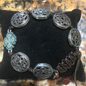 Lucky silver toned bracelet. Super stylish